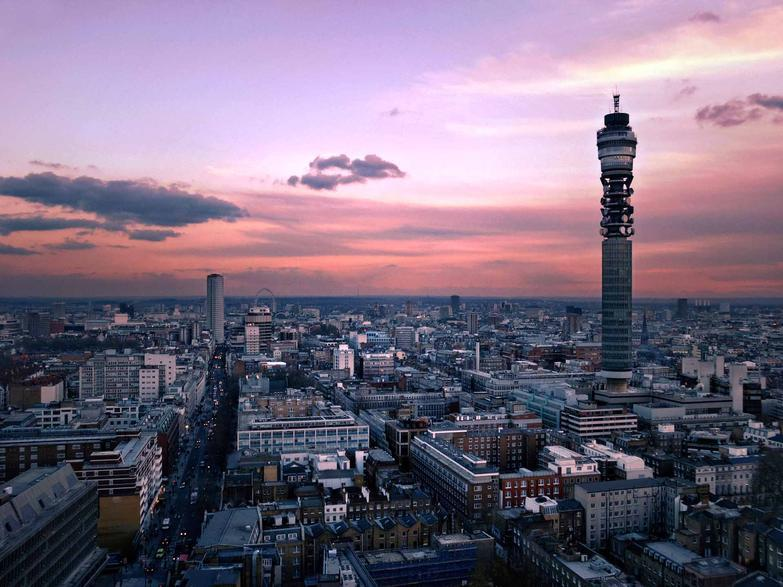 Central London, Tottenham Court Road and BT Tower