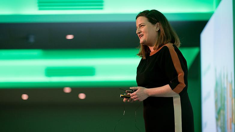 Gráinne Gilmore speaking at a Propertymark Conference