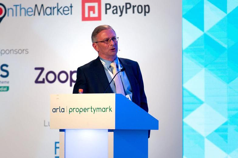 Robert Bolwell speaking at ARLA Propertymark Conference 2019