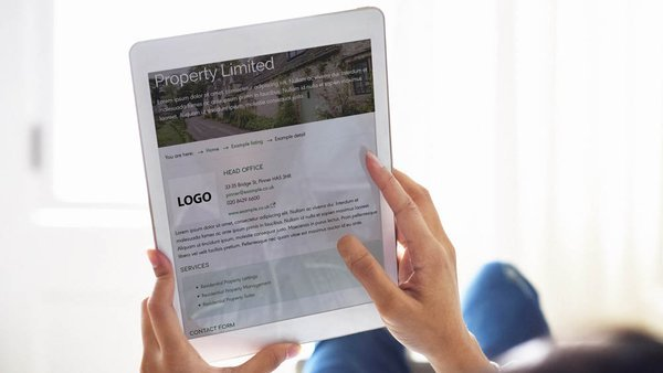 Company find an expert profile on tablet device